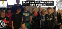 Street Handball presentation for Childrens Adult Friends Ribe-Bramming in cooperation with Ribe-Esbjerg HH handball club.