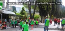 Greece, Athens, 3rd Street Handball Dionysos Event at Anixis-Stamata Avenue