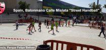 "Spain, Valencia, Balonmano Calle Mislata, ""Street Handball"""