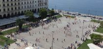 Greece, Street Handball Event THESSHAND 2018 at Aristotelous Square, Thessaloniki