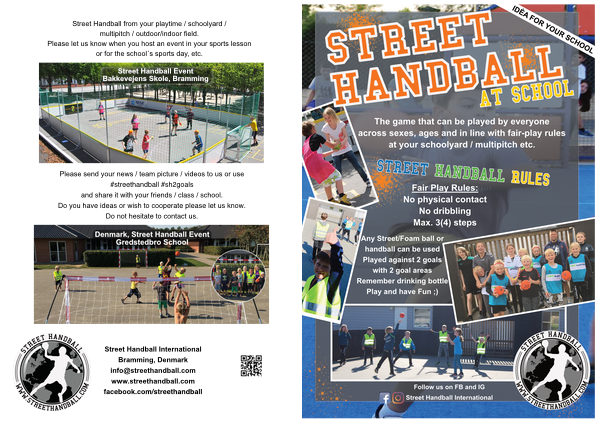 Street handball at school