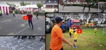 Street Handball Denmark to Children's Day, Bramming Town Fair, Street Handball played on the parking lot and the grass