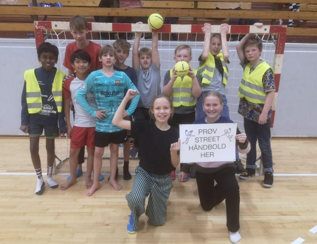 Fun Friday Event with Street Handball in Bramming, Denmark