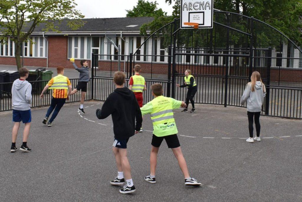Street Handball at school, How to play, Bakkevejens Skole, Bramming, Denmark
