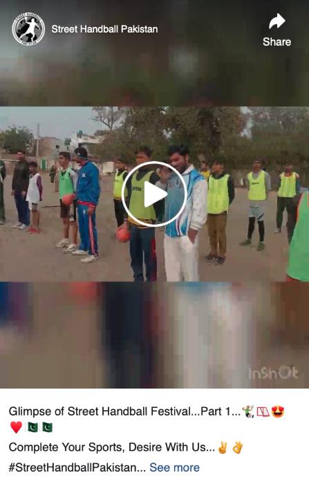 Street Handball Festival Pakistan in Faisalabad city  with Al-Nouman Handball Club